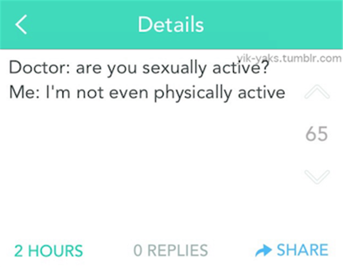 sexually active
