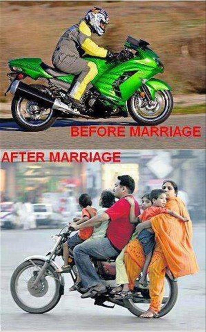this is before and after marriage