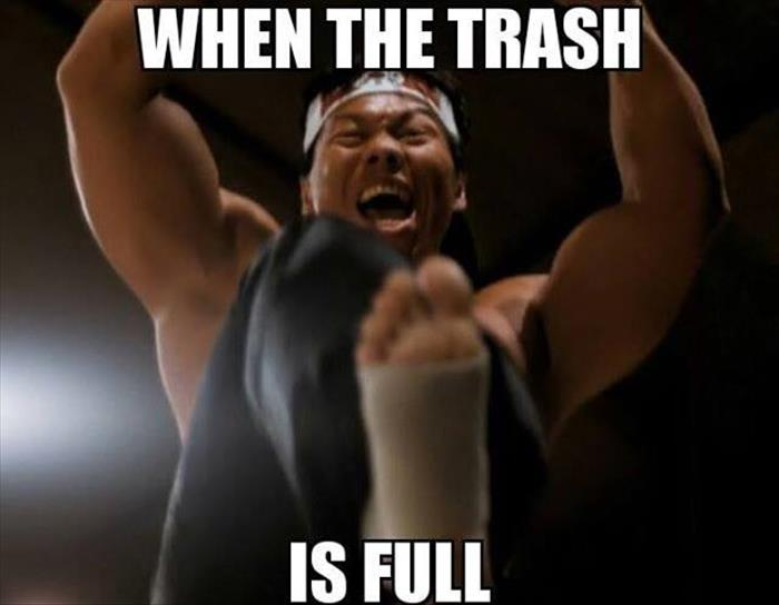 when the trash is full