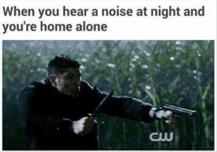 you hear a noise at night