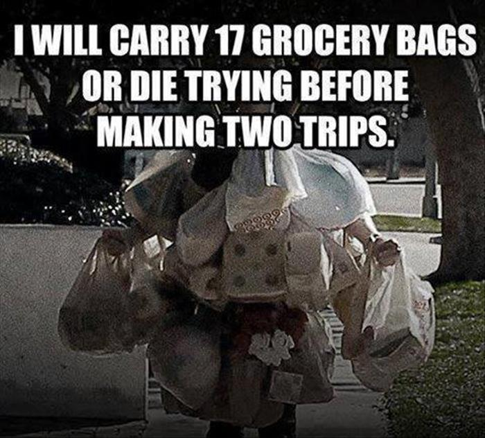 I will carry bags