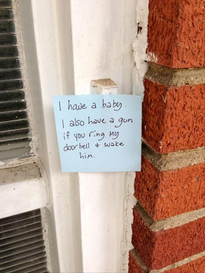 & 15 Funny Front Door Notes Every Parent Can Relate To