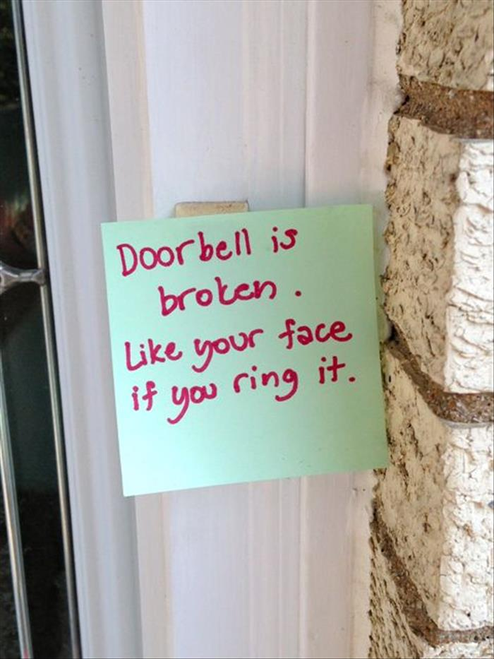 15 Funny Front Door Notes Every Parent Can Relate To