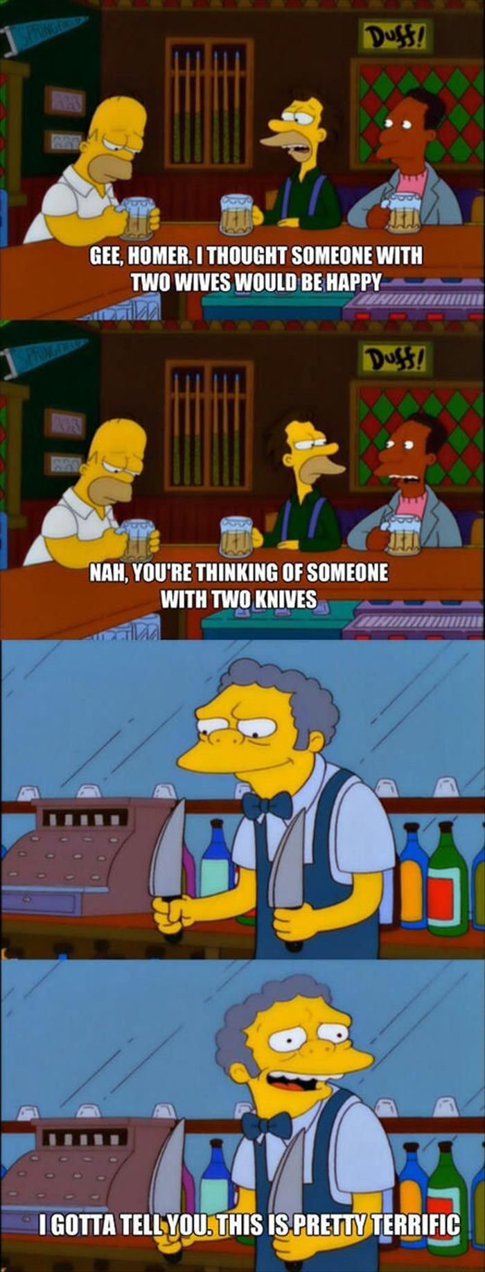 the funny simpsons