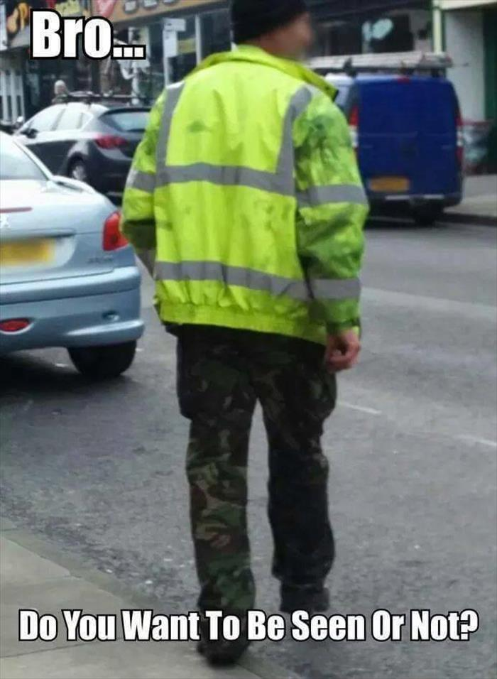 want to be seen or not