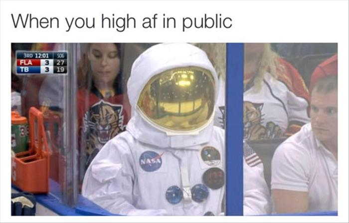 when you're high