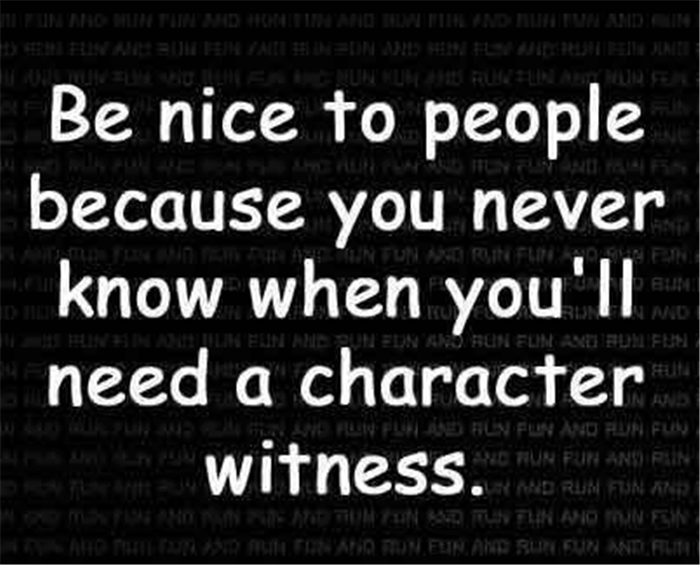 why you should be nice to people