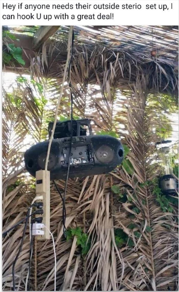 how to set up your outside radio system