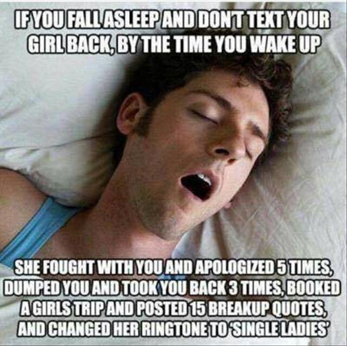 if you fall asleep