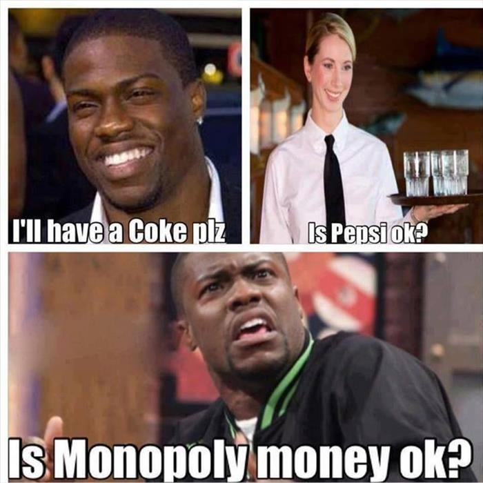 paying in monopoly money