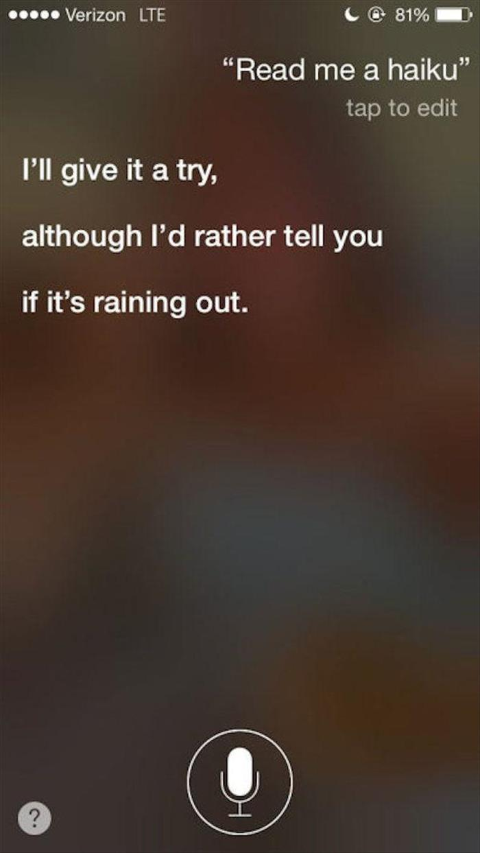 Oh Siri, You Never Disappoint Me - 20 Pics