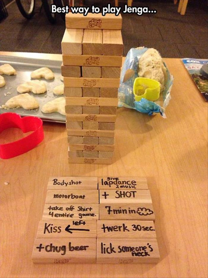 the best way to play jenga