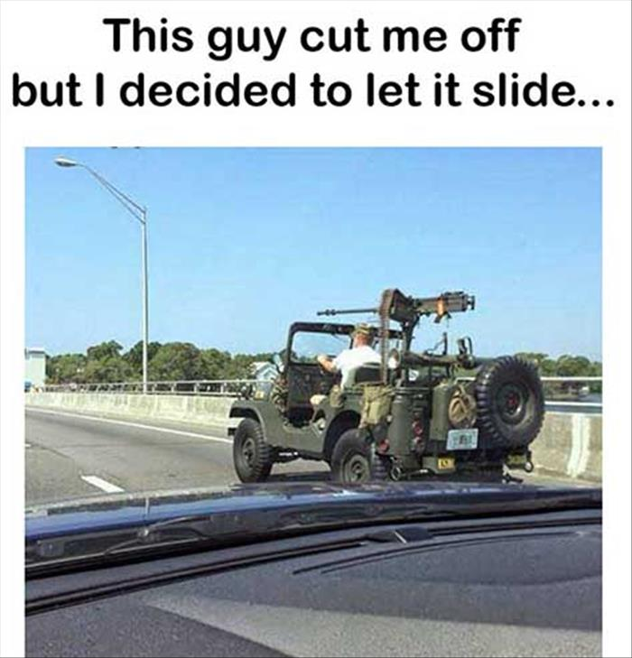 this guy cut me off