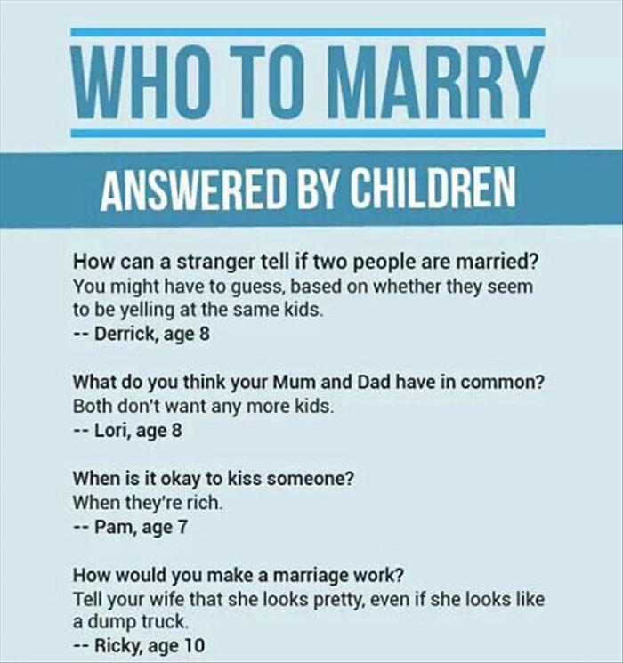 who to marry