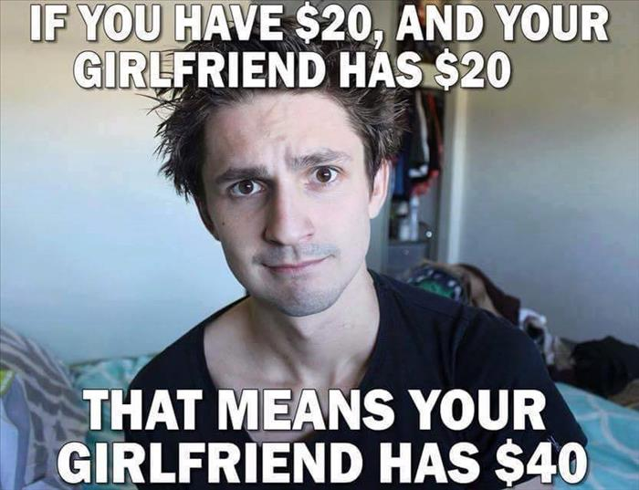 your lady friend is rich