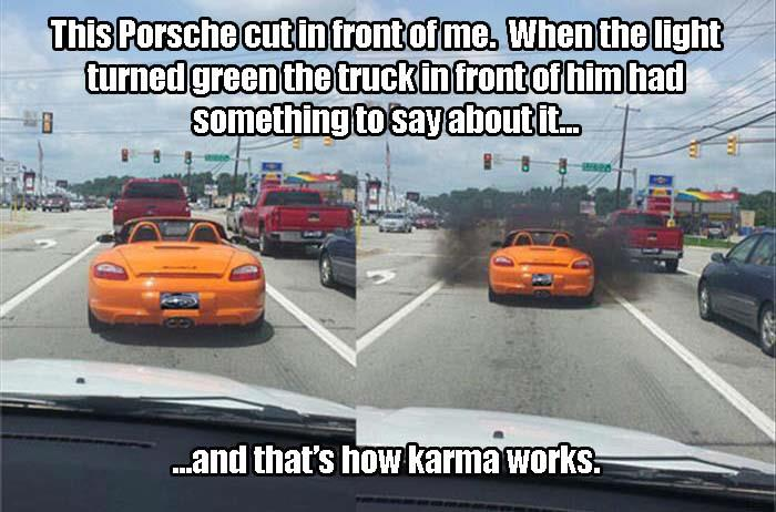 1 and that's how karma works