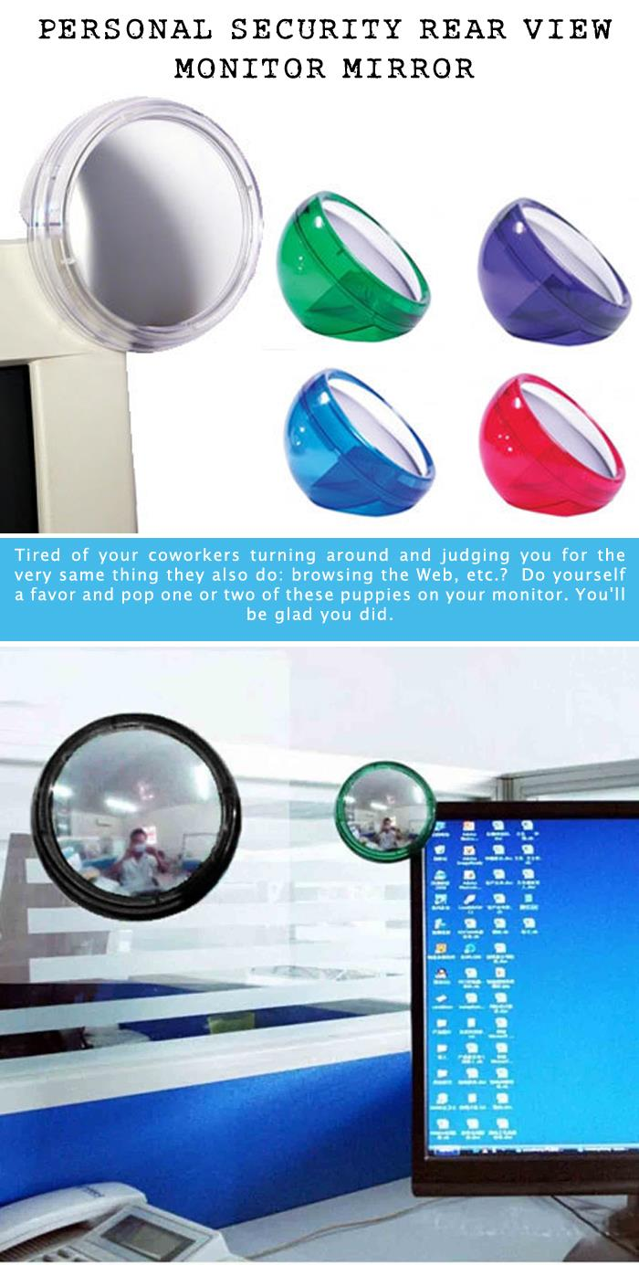 2 Personal Security Rear View Monitor Mirror