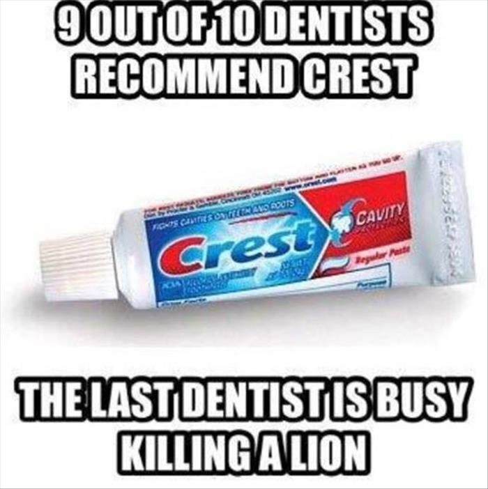 9 out of ten dentists