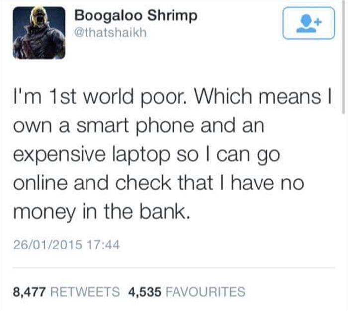 first world poor