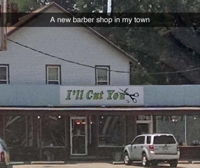 new barber shop in my town