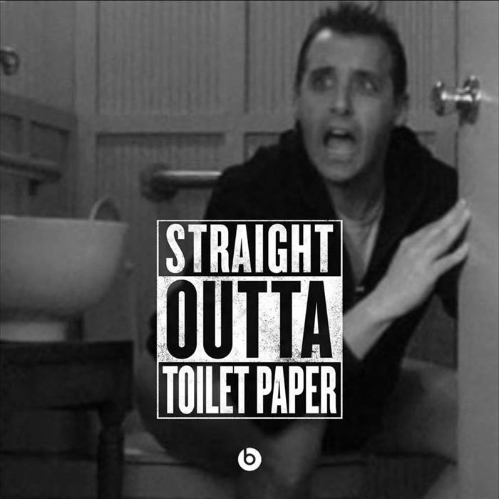 straight out of toilet paper
