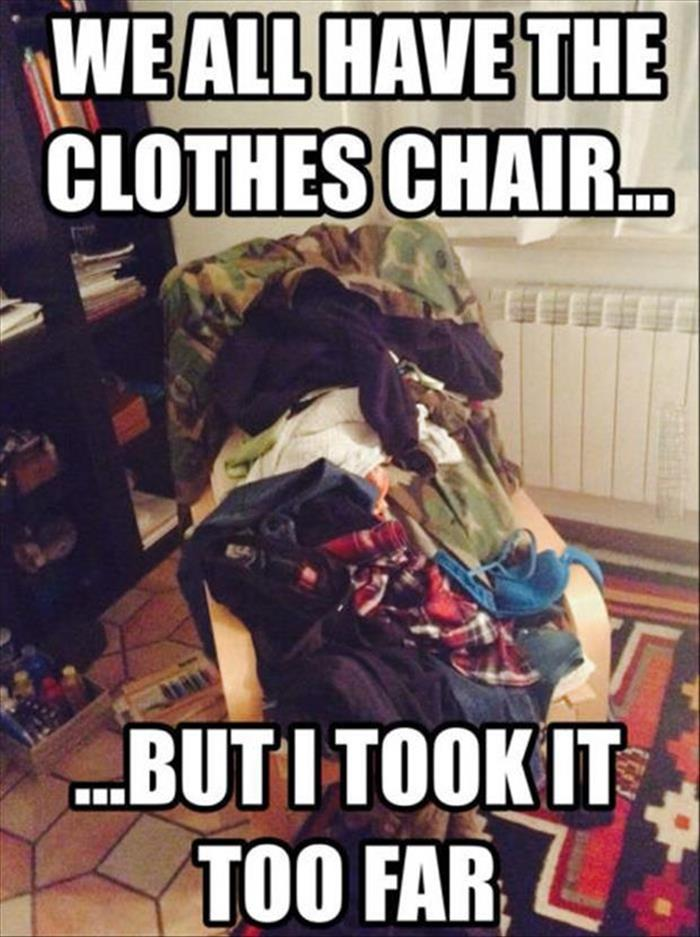 the clothes chair