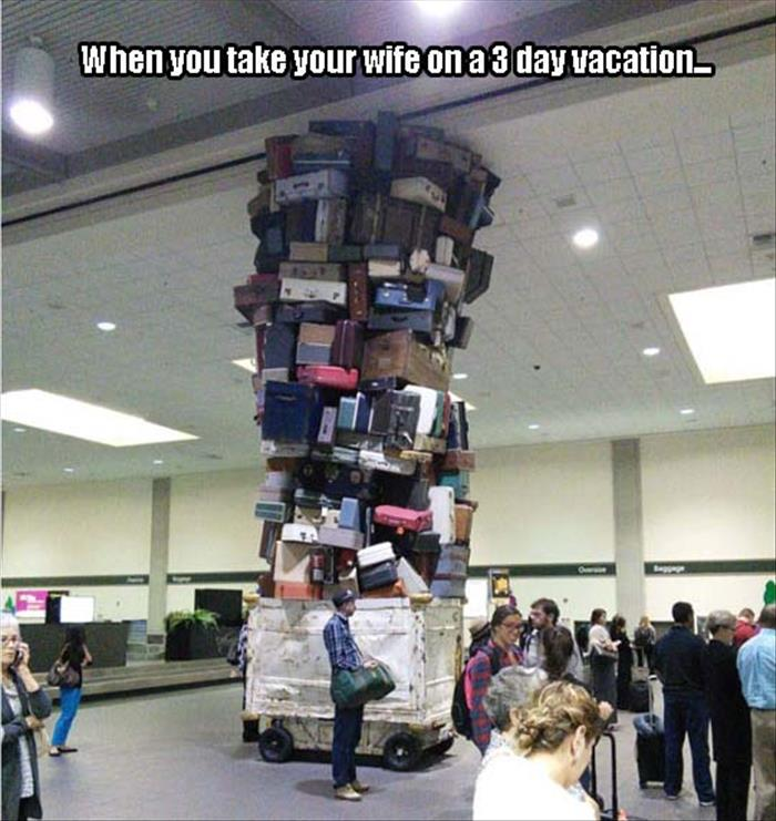 when you take your wife on a three day vacation