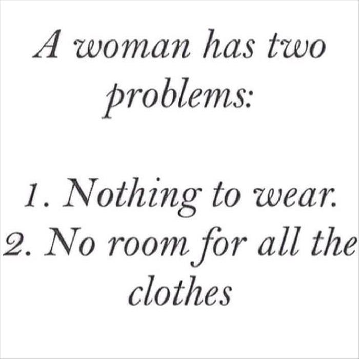 woman has two problems