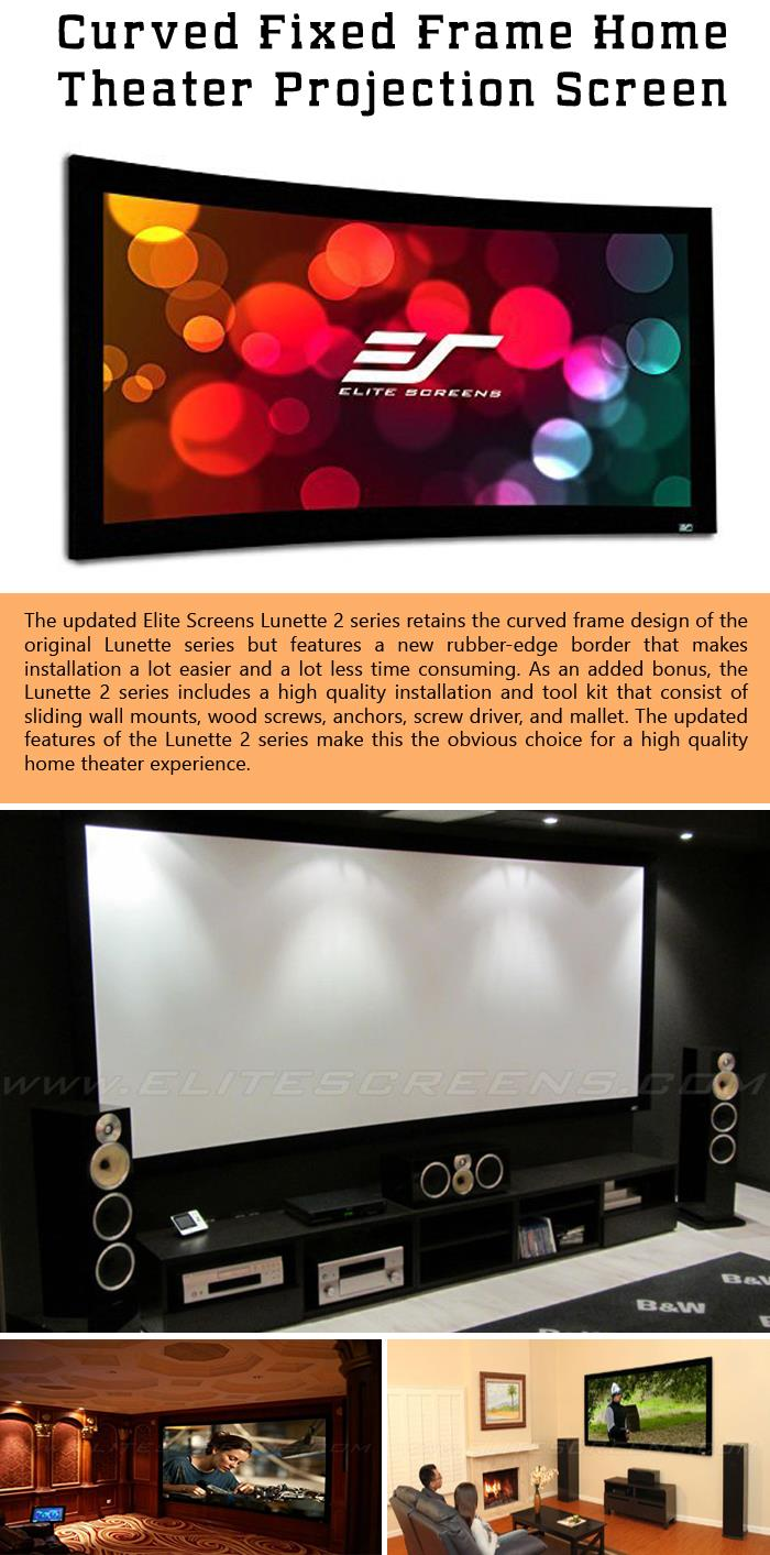Curved Fixed Frame Home Theater Projection Screen