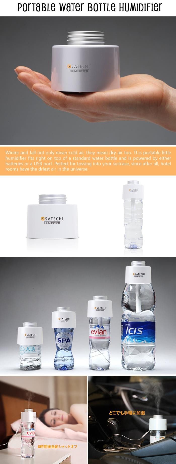 Portable Water Bottle Humidifier