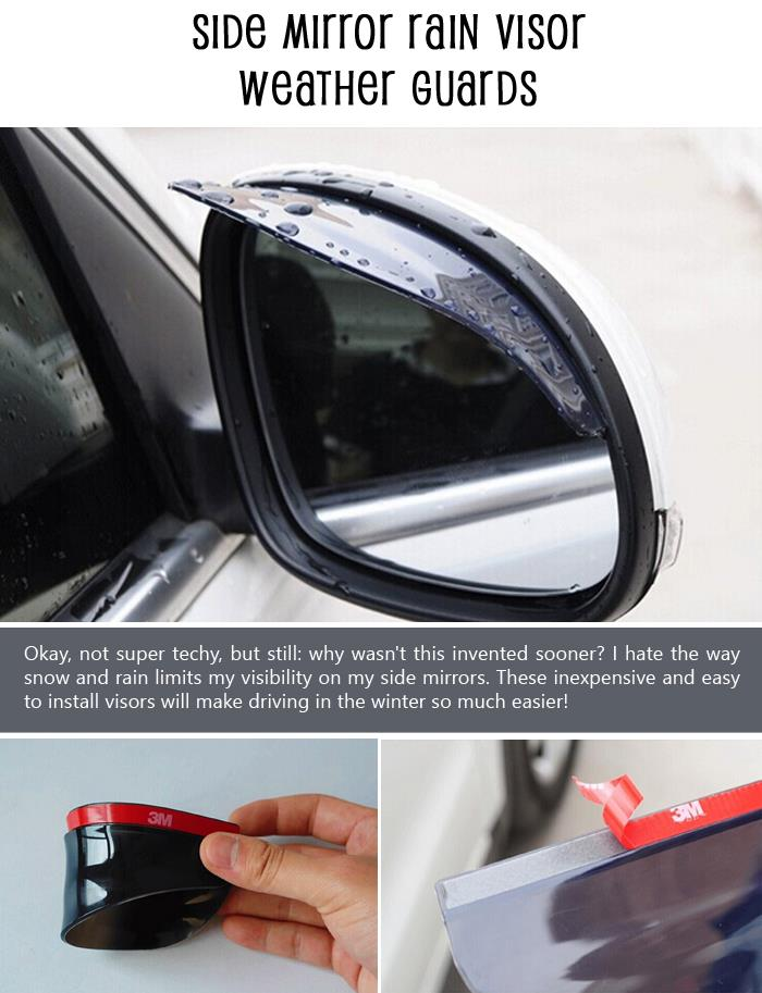 Side Mirror Rain Visor Weather Guards