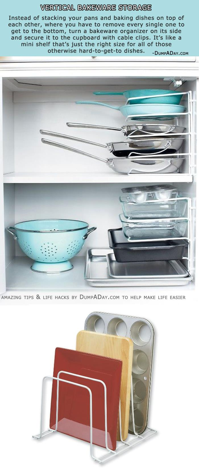 Vertical Bakeware Storage