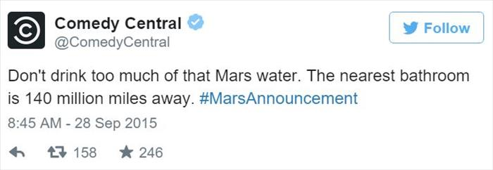 a funny water on mars