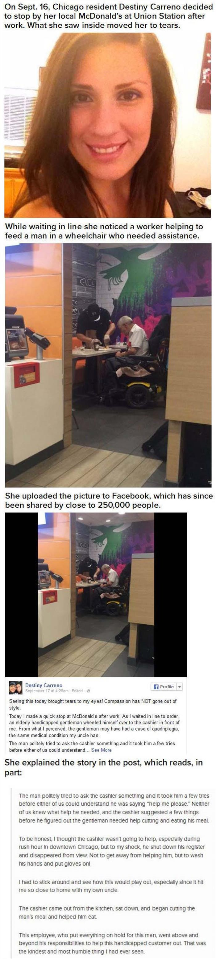 faith in humanity restored McDonalds