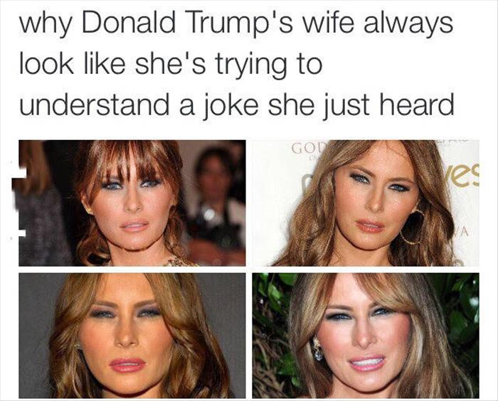 funny donald trump's wife