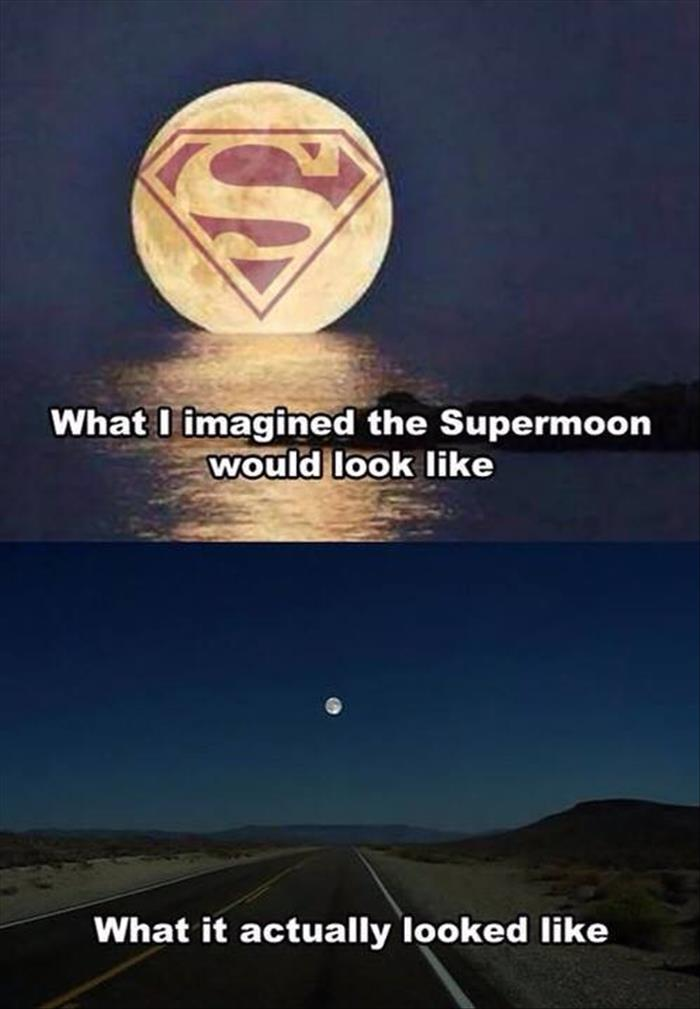 funny supermoon