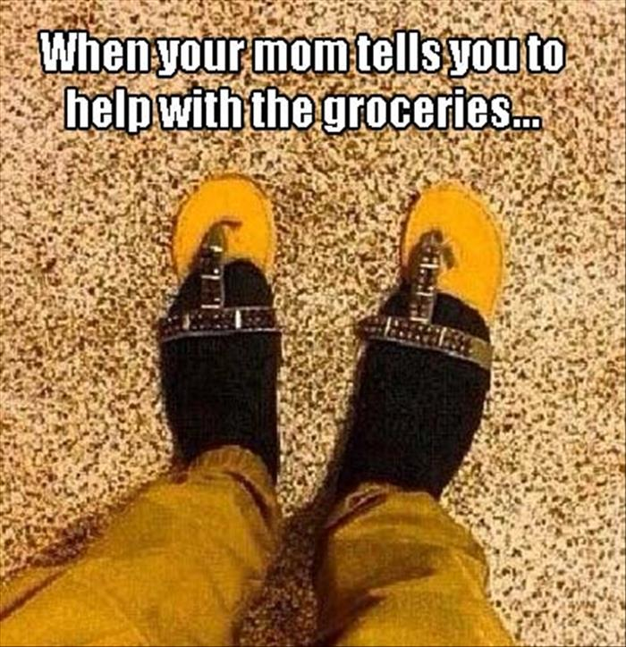 help with the groceries