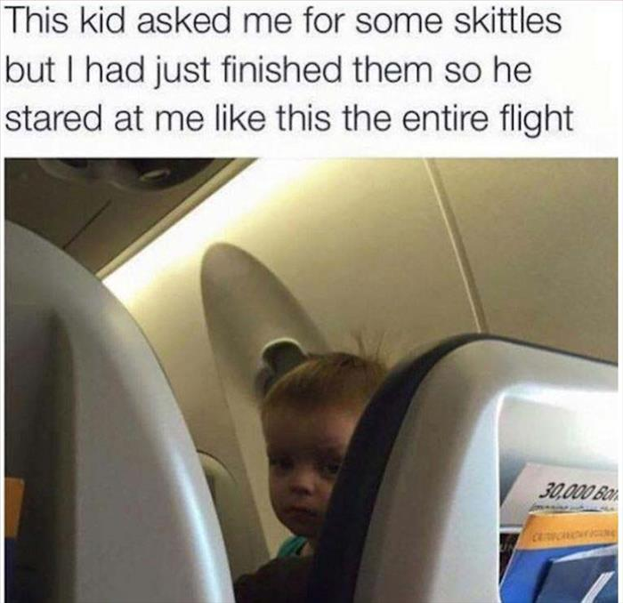 kid wants skittles