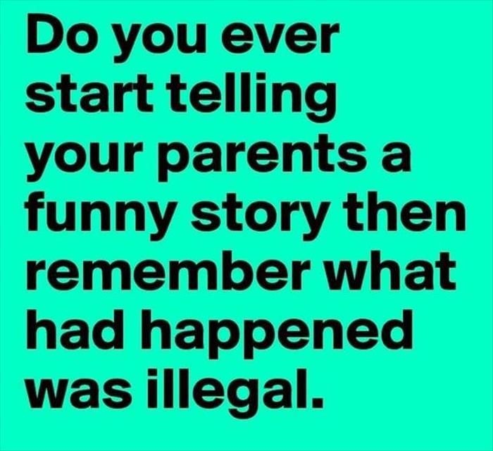 telling your parents a story