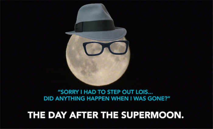 the day after the super moon