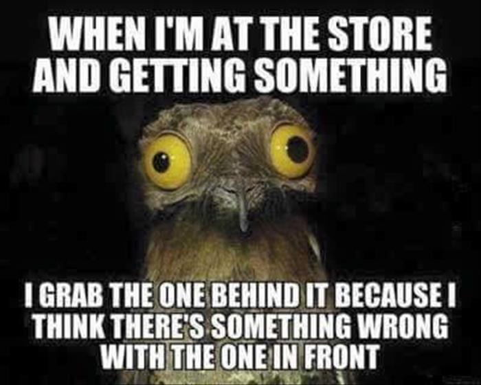 when I'm at the store