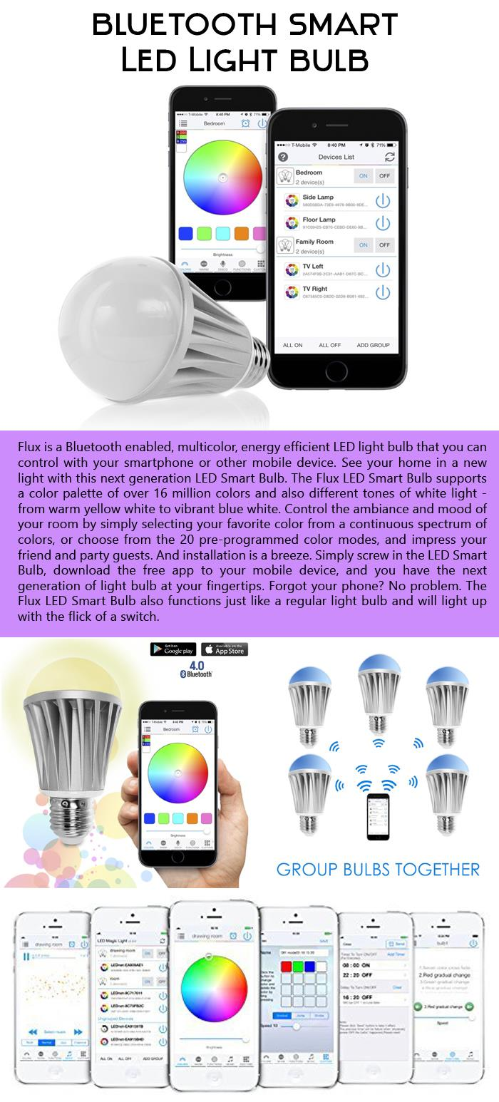 Bluetooth Smart LED Light Bulb