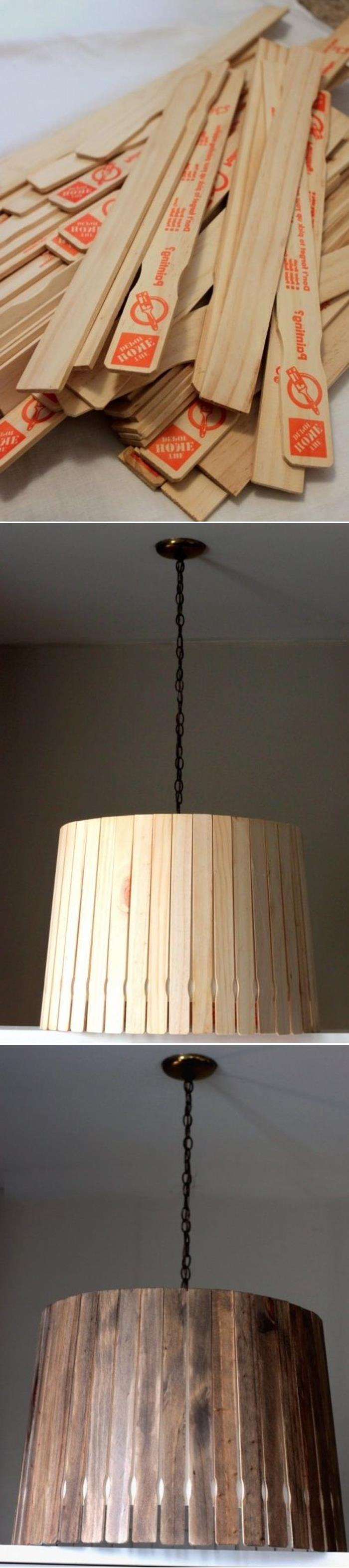 DIY Paint Stick Lampshade copy