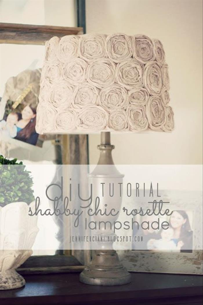 Diy Shabby Chic Rosette Lamp Shade