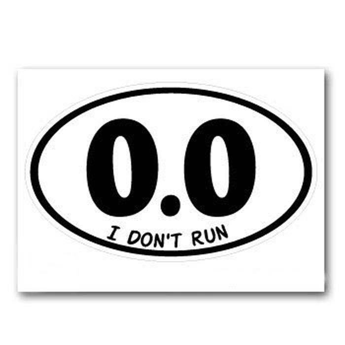 I Don't Run - Anti Marathon Lazy Jogging
