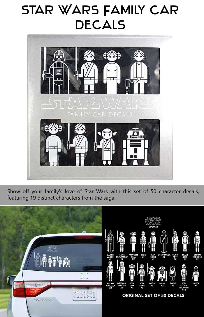 Top Ten Star Wars Product Every Star Wars Fan Needs - Star wars family car decals