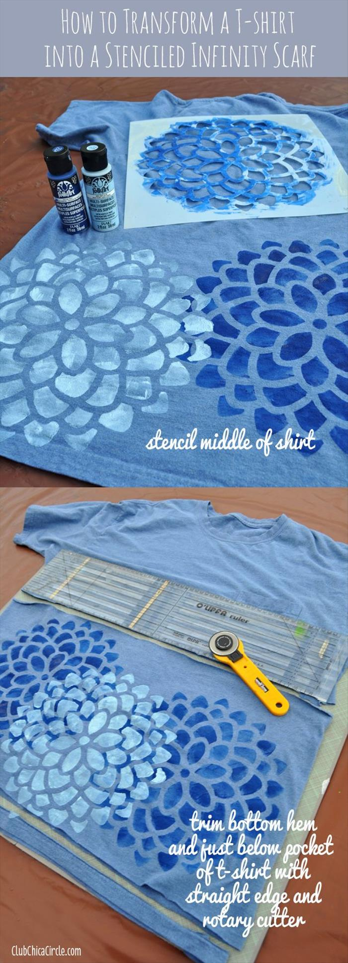 Stenciled Infinity Scarf
