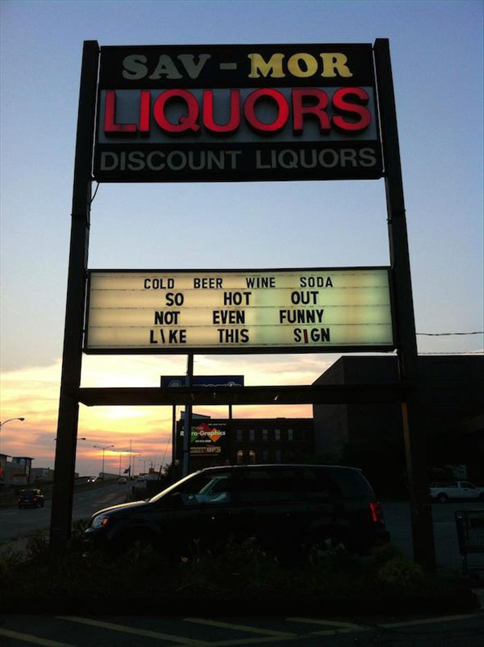 Car For Kids >> Liquor Store in Maryland Has The Funniest Signs You'll See ...