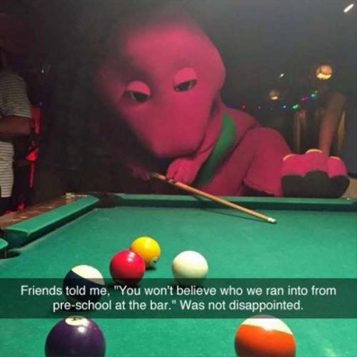 playing pool with barney