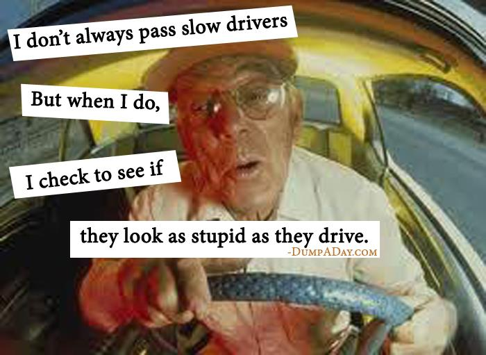 slow drivers